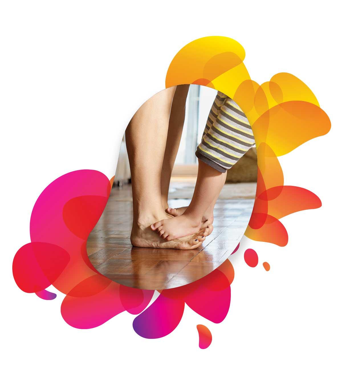 Füße auf warmen Boden dank Fußbodenheizung